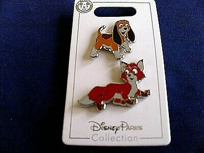 Disney * TOD & COPPER - FOX & HOUND * New on Card 2-Pin Set Trading Pins