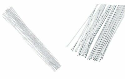 50pc Floristry Cake Wire Sugarcraft WHITE//GREEN SIZES 22-28 Sugar Flowers Crafts