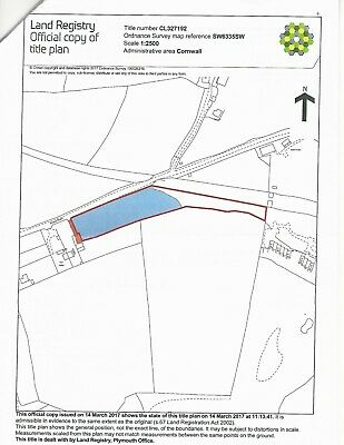 Cornwall land for sale