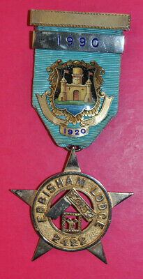 Sterling silver Masonic Past Master's Jewel Ebbisham Lodge No 2422 WM