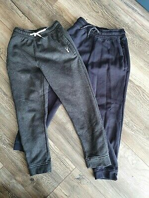 *** BOYS NEXT JOGGING BOTTOMS (JOGGERS) x 2 (BLACK AND GREY) - Size 8 Years ***