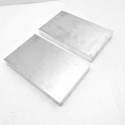 ".875"" thick  7/8  Aluminum 6061 PLATE  5.875"" x 10.125"" Long QTY 2  sku 175797*"