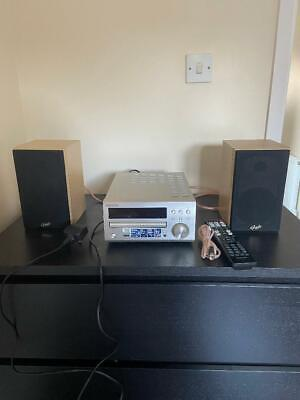 Denon RCD-M40 DAB CD Receiver Complete With Dale Speakers + Remote + Antenna