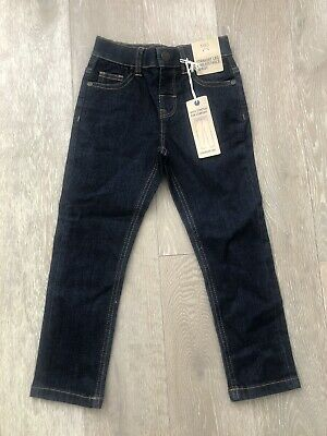 MARKS & SPENCER M&S Straight Leg & Adjustable Waist Boys Jeans-Age 3-4-BNWT-L@@K