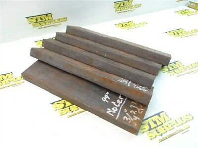 """26Lb 5Pc Solid Steel Bar Stock 3/4"""" X 2-1/2"""" X 10"""" Lengths"""