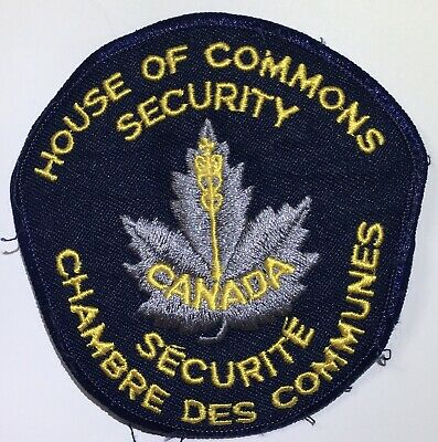 NOUSE OF COMMONS SECURITY Canada Obsolete Police Patch