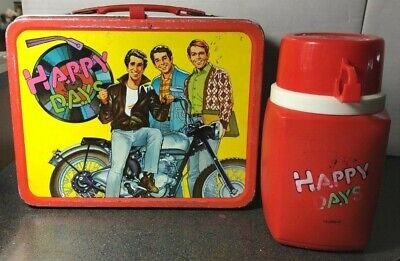 Vintage 1976 Happy Days Lunchbox with Thermos