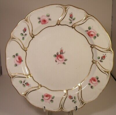 "Derby Porcelain Early 19th Century Hand Painted 8.5"" Cabinet Plate"