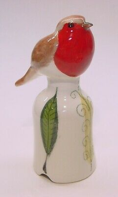 Nice!!  Stuart Bass Pie Bird Vent * Red ROBIN on decorated Funnel - ENGLAND