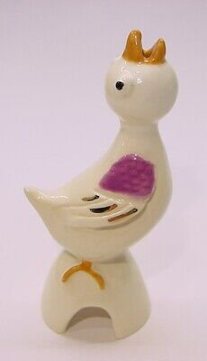 Adrian Pottery Pie Bird Vent/Funnel * Small Violet Hungry Nestling Baby Birdie