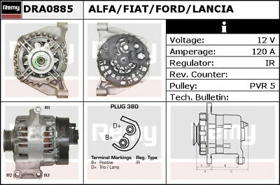 ABARTH Alternator Remy 51859041 51787196 51859061 52003529 Quality Replacement