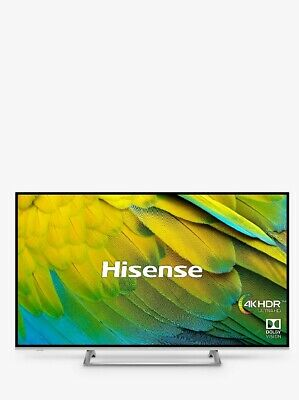 "Hisense H55B7500UK LED HDR 4K UltraHD Smart Tv 55"" Freeview Play Black/Silver C1"