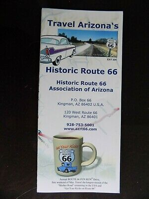 Arizona ROUTE 66 fold out brochure, mint & free s&h