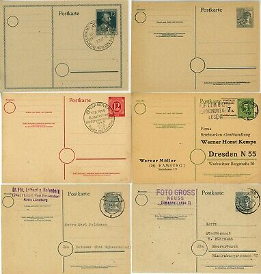 GERMANY Event Cancels Deutsche Postal Card Stationery Cover Stamp Collection