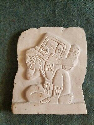 Mayan God Relief Carved Replica Plaque-