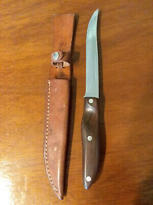 Vintage Cutco Hunting/Fishing Knife with Leather Sheath