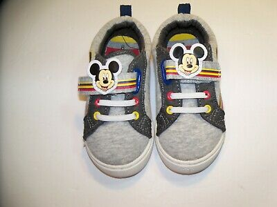 NEW Disney Boy/'s Mickey Mouse Grey//Black//Red High Top Sneakers Toddler Sz 11/&12