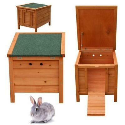 "20"" Wooden Rabbit Hutch Pet Cages For Small Animal House Natural Wood +Manual"