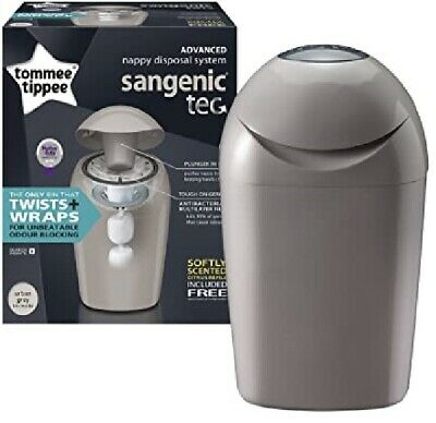 Tommee Tippee Advanced Nappy Disposal System Sangenic Tec Urban Grey