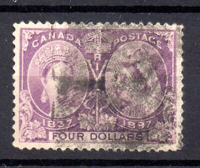 Canada QV 1897 $4 Jubilee SG139 used WS18050