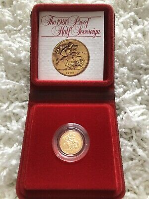 1980 Royal Mint Gold Proof Half Sovereign