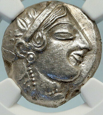 ATHENS Greece 475BC Ancient Silver Greek TETRADRACHM Coin Athena Owl NGC i84270