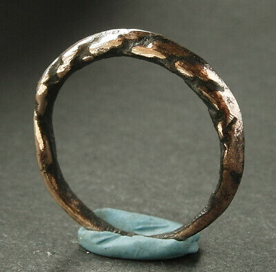 A genuine ancient Viking bronze ring - wearable -