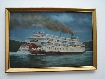 """""""Delta Queen At Night"""" by Dorothea Frye from 1960's"""