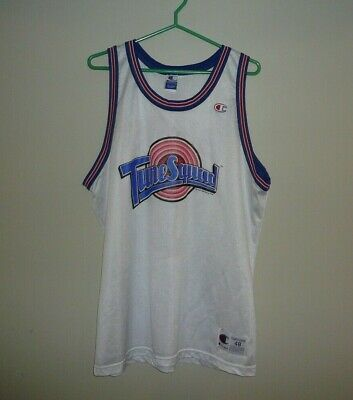 Tune Squad #1 BUGS Vintage Basketball Jersey MENS SZ 48 Space Jam Champion White