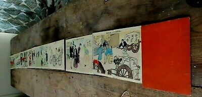 Antique Japanese Accordian Orhion Book Of Japanese Foreigners Woodblocks