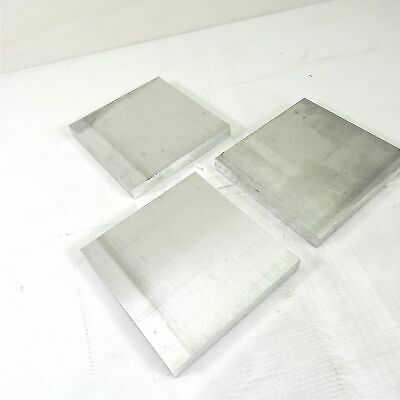 ".625"" thick  5/8  Aluminum 6061 PLATE  5.875"" x 5.875"" Long QTY 3  sku 176177"