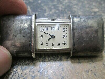 Vintage MOVADO .930 SILVER RUNNING Travel Clock
