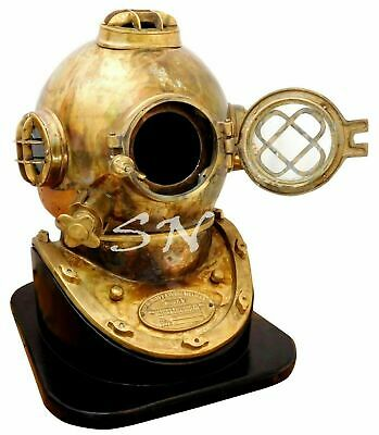 "18"" Full Brass Diving Helmet Morse US Navy Mark V Full Size Diving Divers Helmet"