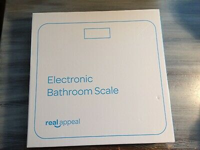 Real Appeal Electronic Bathroom Scale New In Box