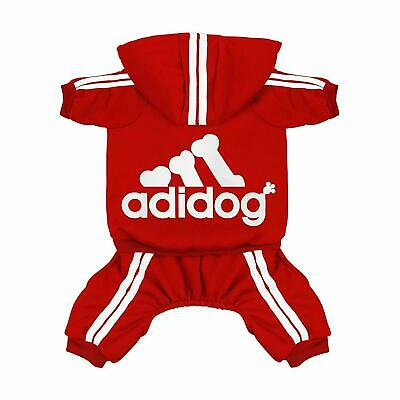 Scheppend Original Adidog Pet Clothes for Dog Cat Puppy Hoodies - Red Small