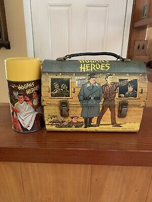 1966 Vintage Hogan's Heroes Metal Dome Lunch Box & Thermos