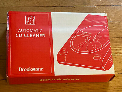 Brookstone AUTOMATIC CD CLEANER 155598 (NEW Sealed Box)