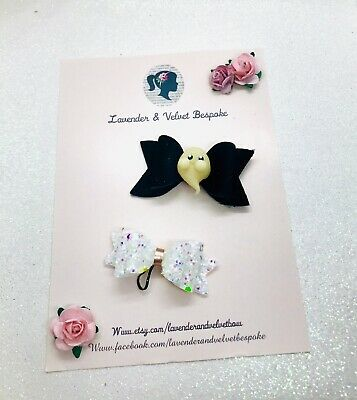 Glow In The Dark Small Pet Collar/ Hair Bows
