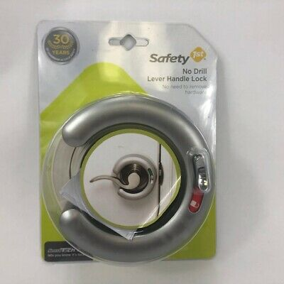 NEW Safety First No Drill Door Lever Handle Lock Protects Babies and Toddlers