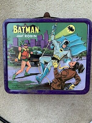Vintage 1966 Aladdin Batman and Robin Metal Lunch Box