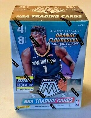 2019-20 SEALED Panini Mosaic NBA Basketball Blaster Box Orange Prizm  Zion?