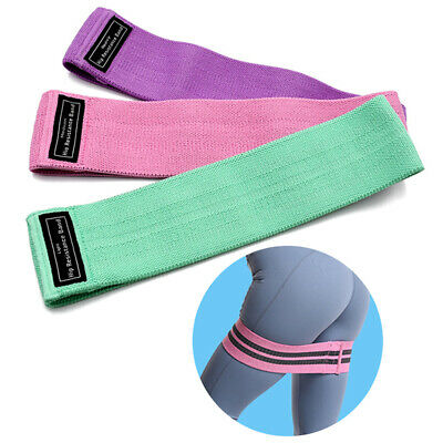 Fabric Resistance Bands Butt Exercise Loop Circles Set Legs Glutes WomenT Ew