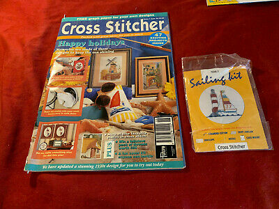 Cross Stitcher magazine No 7 June 1993 Holidays, memories, animals & FREE KIT