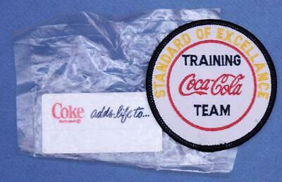 Coca Cola Training Team Patch + Coke Employee Name Badge Unopened sf4-2