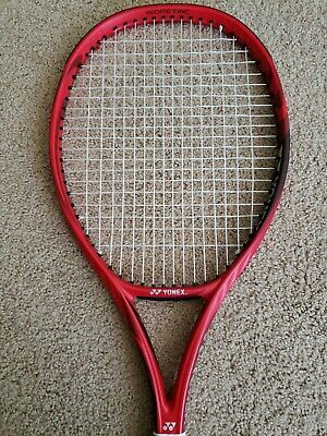 Yonex Vcore 100 Red 4 3/8 with brand new string at 50lbs