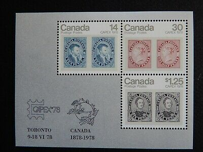 #756a MNH CAPEX '78 Souvenir sheet of three stamps.