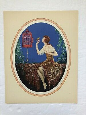 "MARCEL Le BOULTE "" my songbird "" PIN-UP/boudoir/ROMANTIC 1920/30s ART DECO litho"