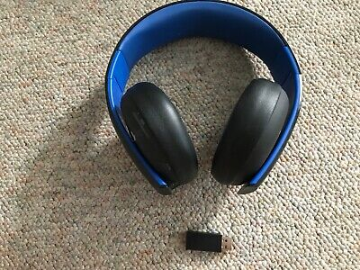 Sony PS4 Gold Wireless Headset Black 7.1 Surround -Used
