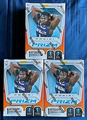 3 Box Lot!!! 2019-20 Panini Prizm Basketball Factory Sealed Blaster Boxes Lot