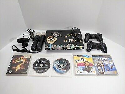 Sony PlayStation 3 PS3 Super Slim 500GB Console  Bundle Camera Move Controllers